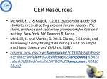 cer resources