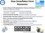 how snowflakes form resources