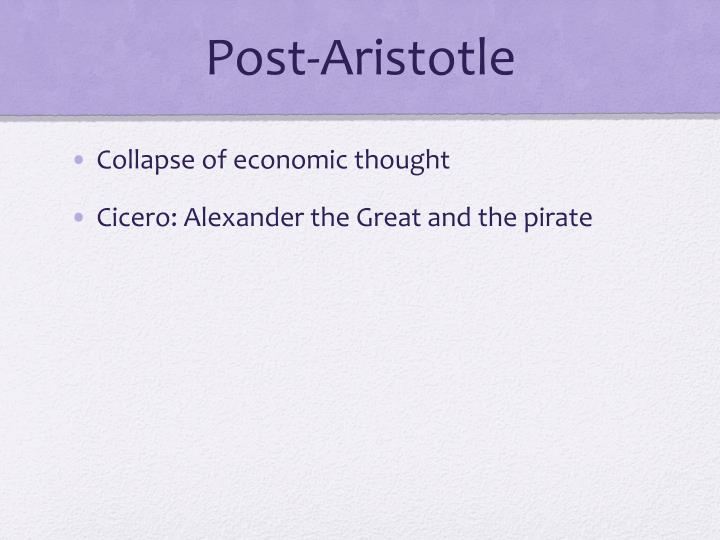 Post-Aristotle