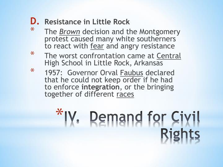Resistance in Little Rock