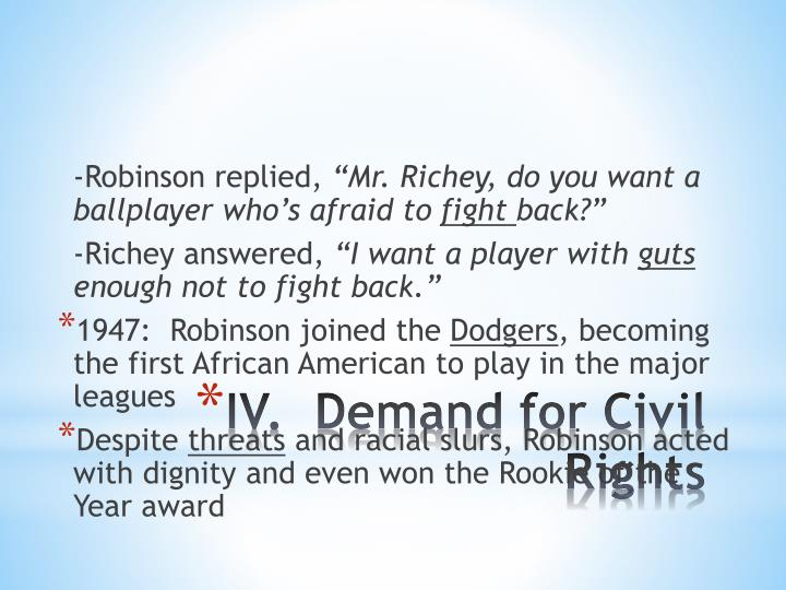 -Robinson replied,