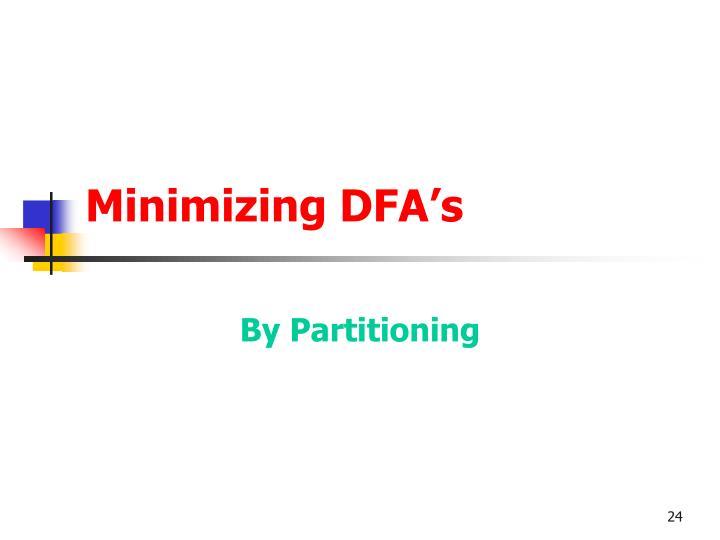 Minimizing DFA's