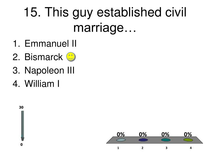 15. This guy established civil marriage…