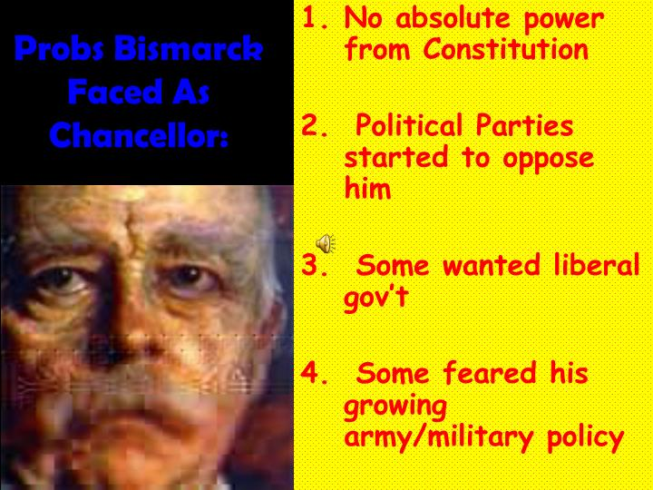 Probs Bismarck Faced As Chancellor: