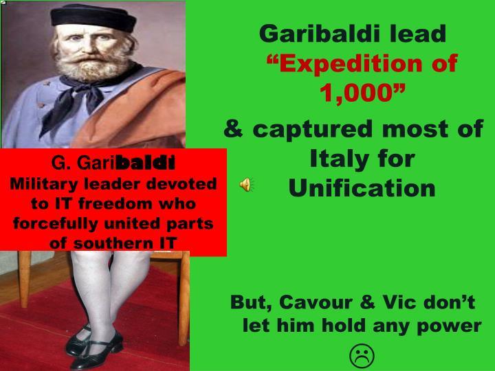 Garibaldi lead