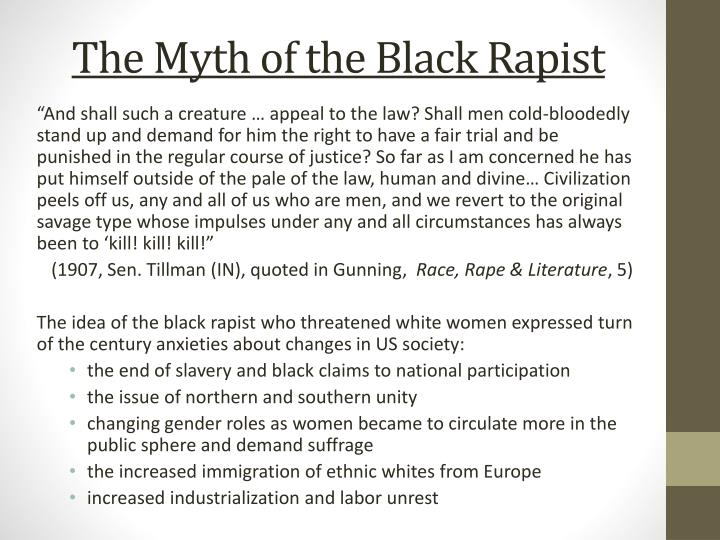 The Myth of the Black Rapist