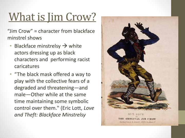 What is Jim Crow?