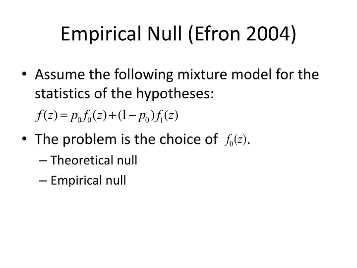 Empirical Null