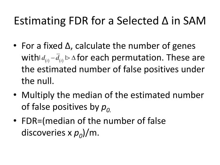 Estimating FDR for a Selected