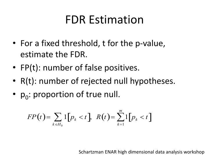 FDR Estimation
