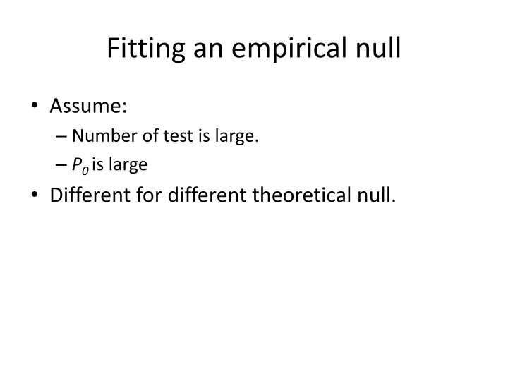 Fitting an empirical null