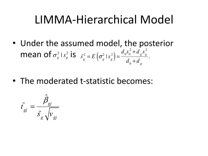 LIMMA-Hierarchical Model