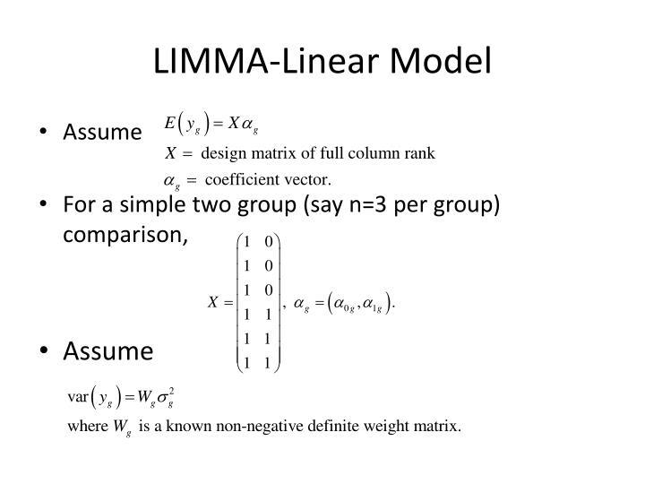 LIMMA-Linear Model