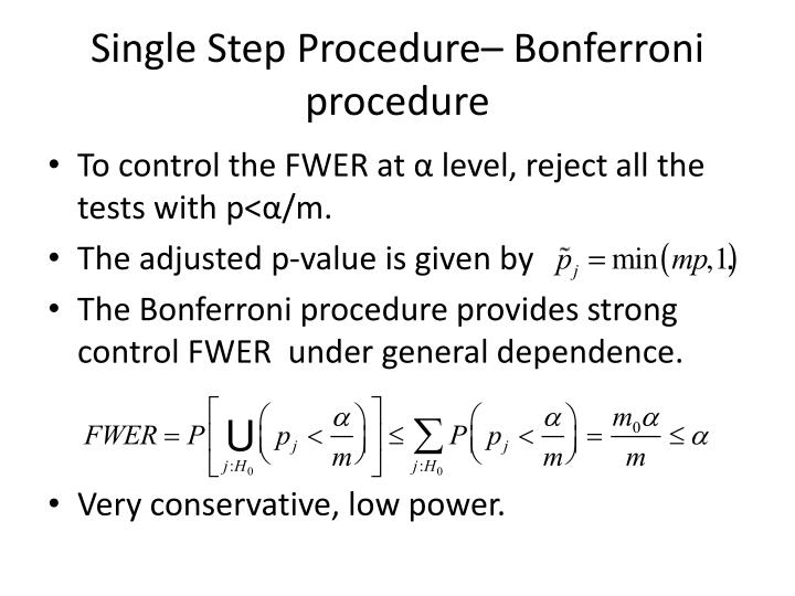 Single Step Procedure–