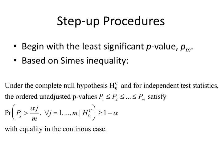 Step-up Procedures