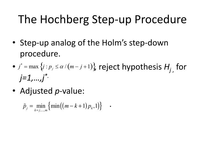 The Hochberg Step-up Procedure