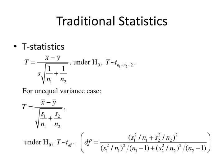 Traditional Statistics