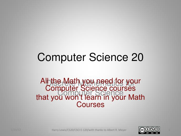 Computer science 20