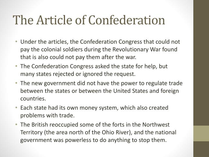 what were some of the major weaknesses of the articles of confederation
