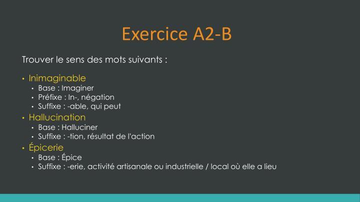 Exercice A2-B