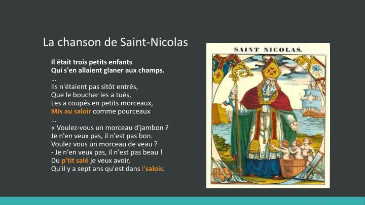 La chanson de Saint-Nicolas