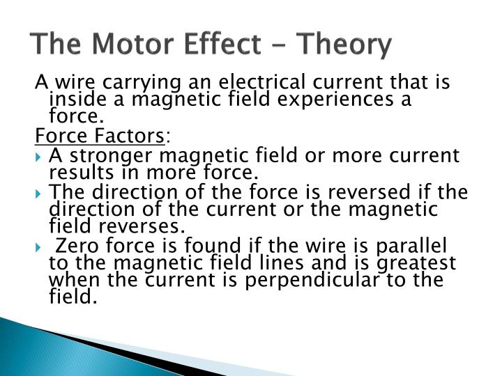 The Motor Effect - Theory