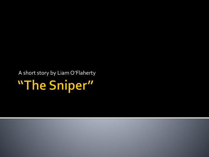 the sniper short story pdf