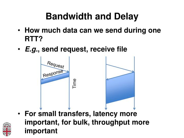 Bandwidth and Delay