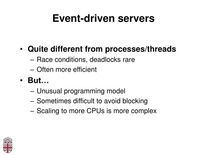 Event-driven servers