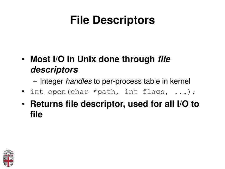 File Descriptors
