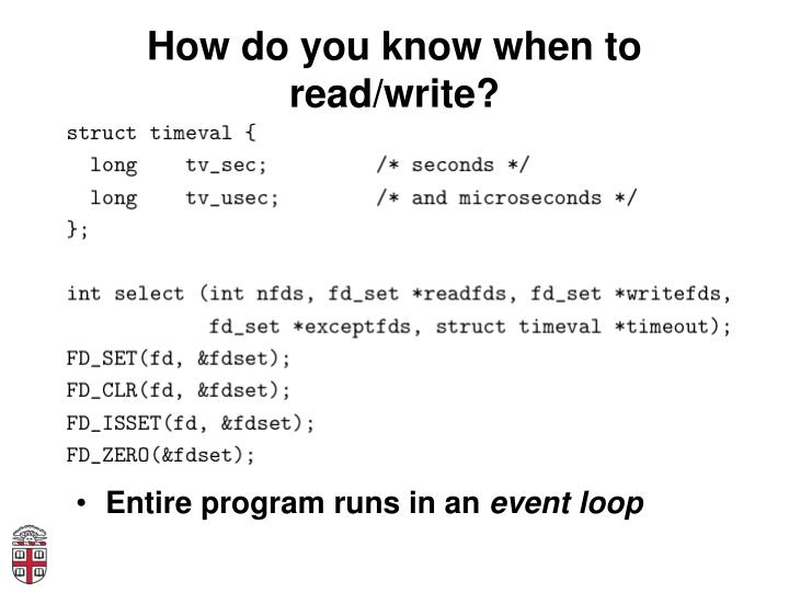 How do you know when to read/write?