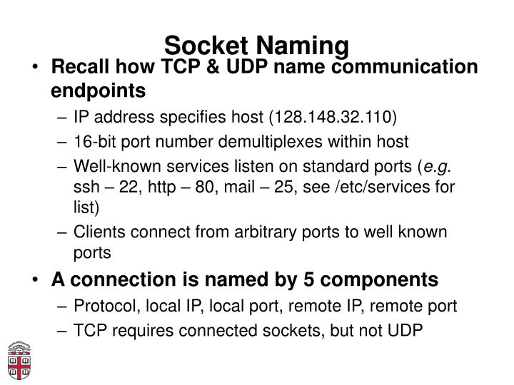 Socket Naming