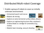 distributed multi robot coverage