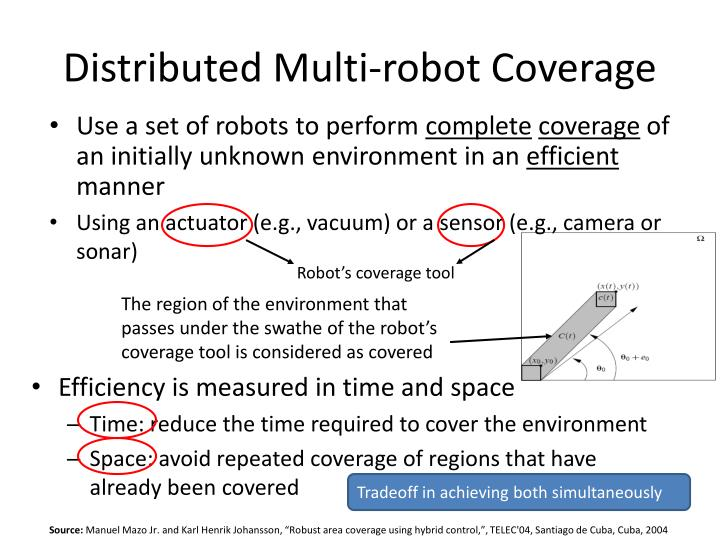 Distributed Multi-robot Coverage