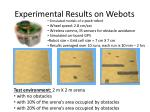 experimental results on webots