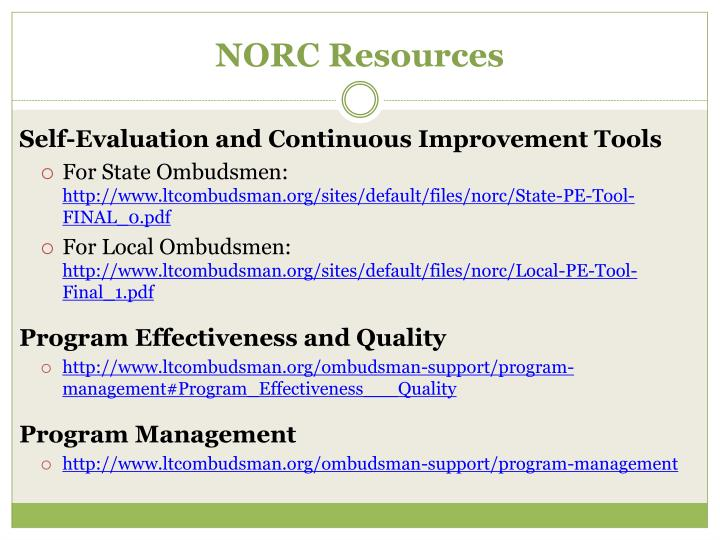 NORC Resources