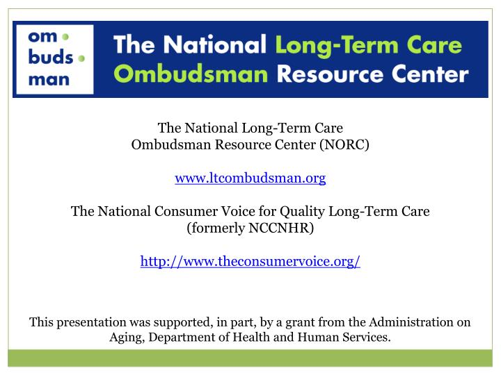 The National Long-Term Care