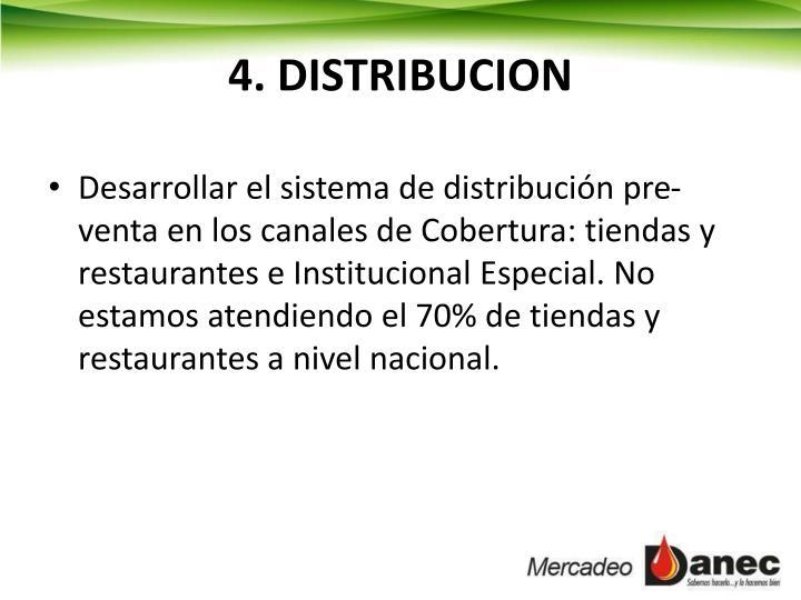 4. DISTRIBUCION