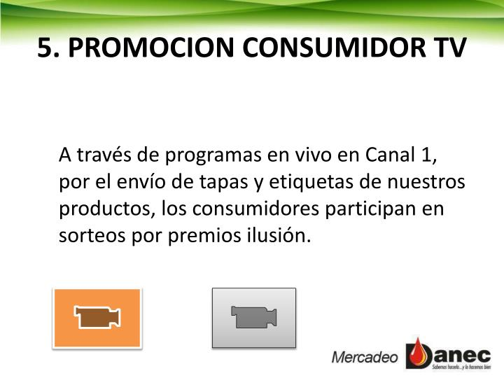 5. PROMOCION CONSUMIDOR TV