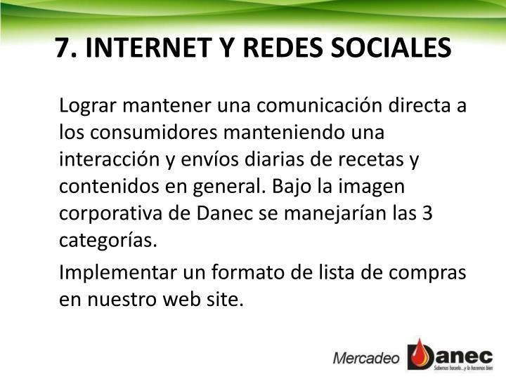 7. INTERNET Y REDES SOCIALES