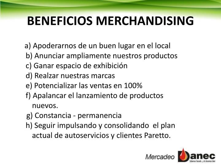 BENEFICIOS MERCHANDISING