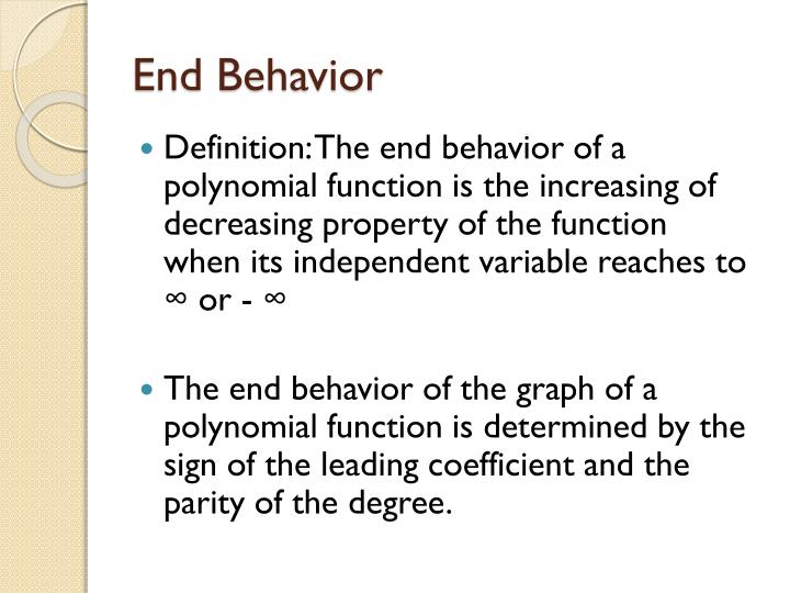how to find the end behavior of a graph