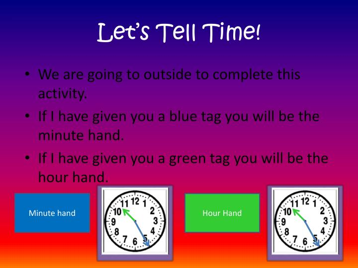 Let's Tell Time!