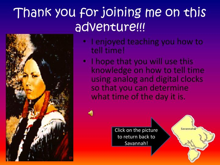 Thank you for joining me on this adventure!!!