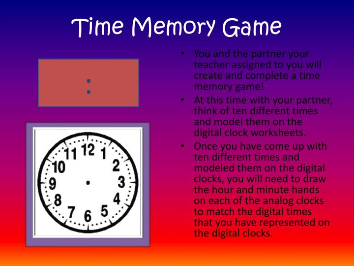 Time Memory Game