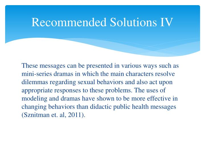 Recommended Solutions IV