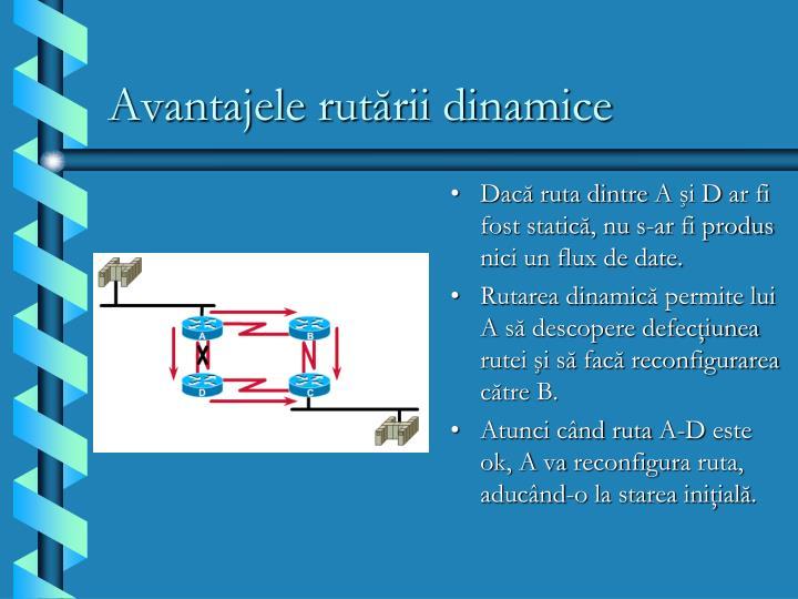 Avantajele rutării dinamice