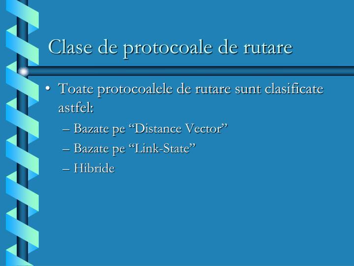 Clase de protocoale de rutare