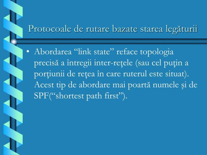 Protocoale de rutare bazate