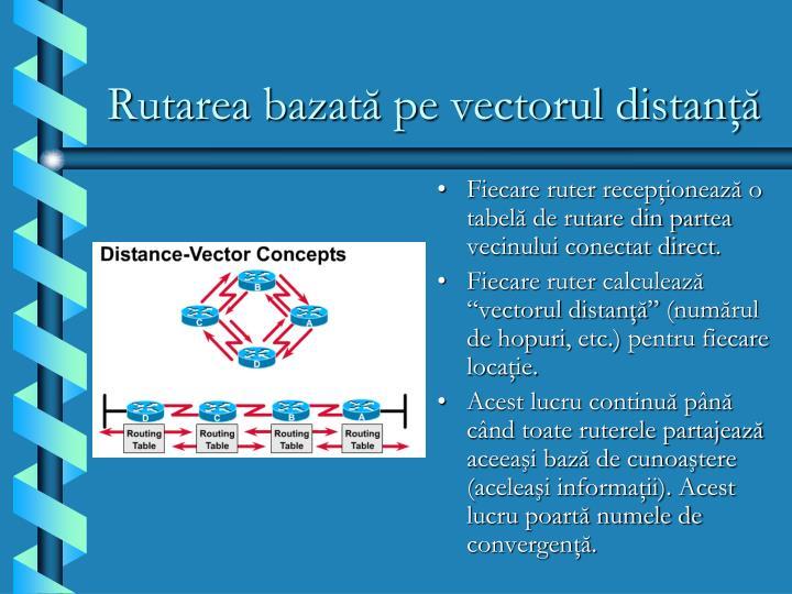 Rutarea bazată pe vectorul distanţă